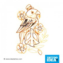 Tatto idea bird8 250x250 Disegni tattoo   Uccelli