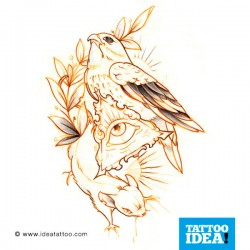 Tatto idea bird9 250x250 Disegni tattoo   Uccelli