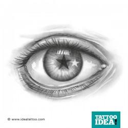 Tatuaggio Occhio realistico