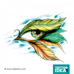 Occhio e piume tattoo