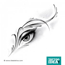 Tattoo Occhio ornamentale