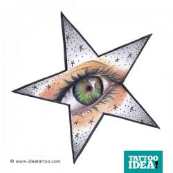 Occhio e stella tattoo