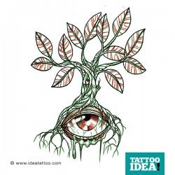 Albero tattoo con occhio