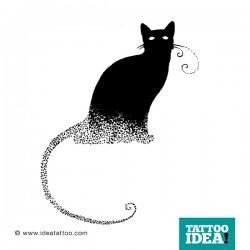 tattoo idea cat black 250x250 Disegni Tattoo Gatti
