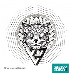 tattoo idea cat dotwork 250x250 Drawings Tattoo