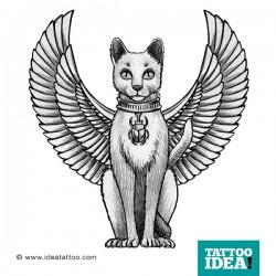 tatuaggio Gatto egiziano bastet