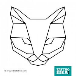 tatuaggi gatto geometrico