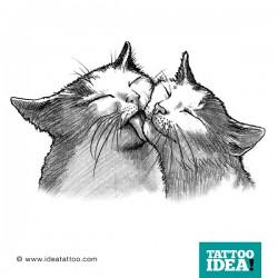 tattoo idea cat love 250x250 Disegni Tattoo Gatti