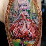 02 Mark Ryden Tattoo by Cecil Porter 150x150 Big Eyes. From art galleries to tattoos