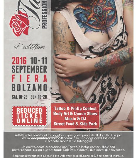Passion art tattoo 10 - 11 settembre 2016