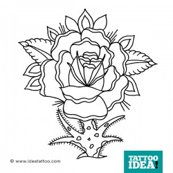 tattoo rose traditional black 250x250 Disegni Tattoo Rose