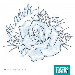tattoo rose traditional blue 250x250 Disegni Tattoo Rose
