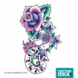 tattoo rose traditional cross 250x250 Disegni Tattoo Rose