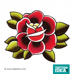 tattoo rose traditional red 250x250 Disegni Tattoo Rose